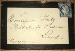 LSC Avec Ceres 25c - YT 60 Oblitération Etoile - De Paris à Laval - Date Illisible (circa 1871/1875) - Poststempel (Briefe)