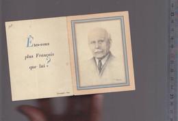 """Calendrier 1944 Francisque / Portrait Maréchal Pétain """"etes-vous Plus Français Que Lui ? (!!!) - Non Classés"""