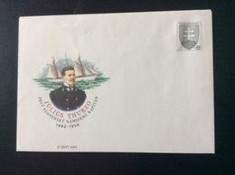2002 COB 45 Capitaine Julius Thurzo (1882-1950) Et Son Voilier 3 Mats Yacht Gitana - Interi Postali