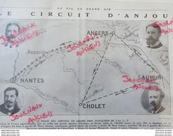 1912 LE CIRCUIT D'ANJOU - LE TRACÉ DES CIRCUITS DU GRAND PRIX D'AVIATION - Newspapers