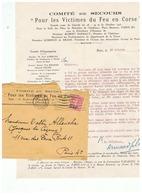 COMITE DE SECOURS POUR LES VICTIMES DU FEU EN CORSE 1927 - Otros