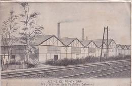 D77  PONTHIERRY  Fabrication Des Pastilles Salmon  ( Usine De La Coopération Pharmaceutique Française De Melun ) - Saint Fargeau Ponthierry
