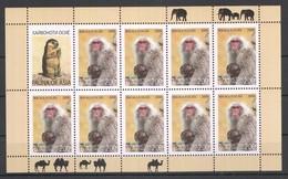 F1077 2009 TAJIKISTAN WWF FAUNA OF ASIA WILD ANIMALS MACACA FUSCATA 1KB MNH - Apen