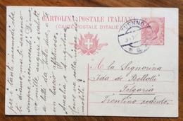 TUENNO *a* 31 XII 19 Annullo Austriaco Su CARTOLINA POSTALE LEONI 10 C. PER FOLGARIA - Marcofilie