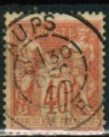 A1-60 - N°94 Obl - Cachet à Date Aups (83) - 1876-1898 Sage (Tipo II)