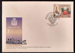 """POR*2990-Portugal FDC With 1 Stamp - """"200 Anos Do Alvará De Criação Do Serviço Público De Correio"""" - Portugal - 1997 - FDC"""