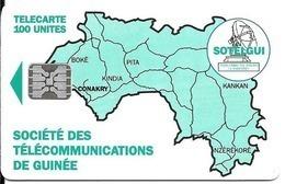 CARTE-PUCE-GUINEE-100U-SC5-CARTE De GUINEE-VERTE-V°BanqueSGBG-Sans N°-UTILISE-TBE-RARE - Guinee