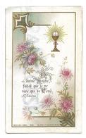 Calice Et Fleurs, Communion De Nelly Gardedieu En 1902 - Images Religieuses