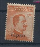Ägäische Inseln 13VI Postfrisch 1912 Aufdruckausgabe Lipso (9431569 - Aegean (Lipso)