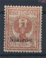 Ägäische Inseln 3VII Postfrisch 1912 Aufdruckausgabe Nisiros (9431567 - Aegean (Nisiro)