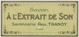 Savon,  A L'Extrait De Son - De Paul Tranoy - ( 172 Mm X 81 Mm ) - Etiquetas
