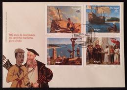 """POR*3002-Portugal FDC With 4 Stamps - """"500 Anos Da Descoberta Do Caminho Marítímo Para A India"""" - Portugal - 1997 - FDC"""