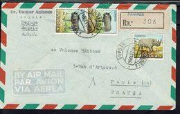 Angola - Jolie Enveloppe Recommandée De Negage Pour La France 18 Février 1956 - TB - - Angola