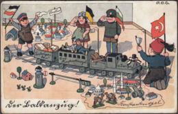 AK Der Balkanzug Berlin Konstantinopel, Ungelaufen - Dessins D'enfants