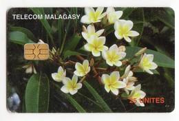 MADAGASCAR Ref MV Cards MDG-47 25U FRANGIPANNI FLOWERS - Madagaskar