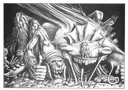 Illustrateur Bernard Veyri Monstre - Veyri, Bernard