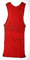 Une CHEMISE Débardeur Marcel Modèle Sport ATHLETISME EN COTON ROUGE Liserets ROUGE Années 40-50 - Vintage Clothes & Linen