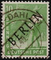 ✔️ Berlin 1948 - Schwarzaufdruck / Black Overprint - Mi. 4 (o) - €1.80 - [5] Berlin