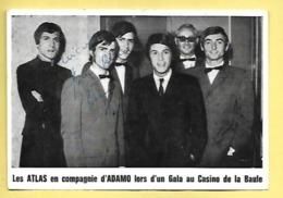 CARTE LES ATLAS EN COMPAGNIE D'ADAMO LOS D'UN GALA AU CASINI DE LA BAULE 3 AOUT 1968 - Singers & Musicians