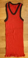Une CHEMISE Débardeur Marcel Modèle Sport ATHLETISME EN COTON ROUGE Liserets NOIRS Années 40-50 - Vintage Clothes & Linen