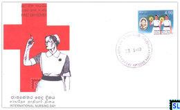 Sri Lanka Stamps 2003, International Nursing Day, Nurse, Medical, FDC - Sri Lanka (Ceylon) (1948-...)
