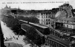 S4513 Cpa 75 Paris - Le Métropolitain Boulevard Rochechoart Et La Butte Montmartre - Distretto: 18
