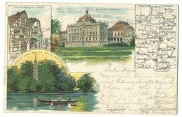 Marbach, Ludwigsburg & Monrepos Litho 1902 - Marbach