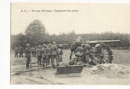 CPA , Th. Militaire , Tir Aux 120 Longs , Chargement Des Pièces   Ed. A.L. - Matériel