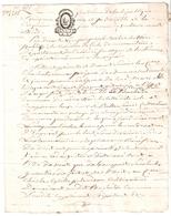 Papier Timbré De Dimension Tarif De Messidor An III - Revenue Stamps