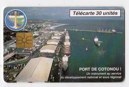 BENIN Ref MV Cards BEN-25 30U PORT DE COTONOU 10 000ex Date 09/96 - Bénin