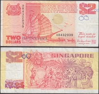 SINGAPORE - 2 Dollars ND (ca. 1990) P# 27 Asia Banknote - Edelweiss Coins - Singapore