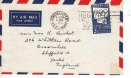 Australie YT 215 Sur Lettre Pour La Grande-Bretagne : JO De Melbourne 1956 - 1954 - 1952-65 Elizabeth II : Pre-Decimals