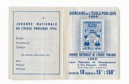 """Carnet """"quinzaine De L'école Publique"""" - Booklets"""