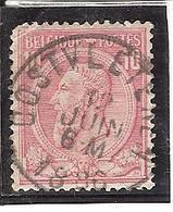 N° 46 Obl Concours Oostvleteren - 1884-1891 Léopold II