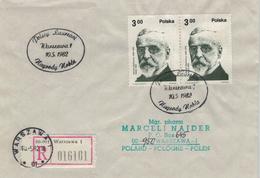 R-Brief Warschau - Henryk Sienkiewicz Nobel 1905 1982 - Polnischer Schriftsteller - 1944-.... Republic