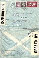 PORTUGAL. LETTRE. PAR AVION,  1943. PORTO POUR NEW YORK ETATS UNIS  BANDES CENSURE - Briefe U. Dokumente