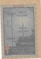 """Vignette """"Défense Contre La Tuberculose - Commemorative Labels"""