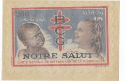 """Vignette """"Défense Contre La Tuberculose"""" Notre Salut - Commemorative Labels"""