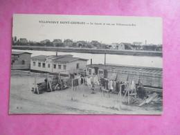 CPA 94 VILLENEUVE SAINT GEORGES LE LAVOIR LINGES ET VUE SUR VILLENEUVE LE ROI - Villeneuve Saint Georges