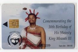 SWAZILAND Ref MV Cards SWA-08 E50 H.M. KING MSWATI III - Swaziland
