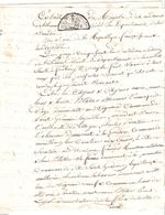 Papier Timbré De Dimension Tarif De Thermidor An V - Revenue Stamps