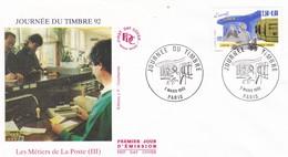 FRANCE 1992 FDC JOURNEE DU TIMBRE YT 2743 - 1990-1999