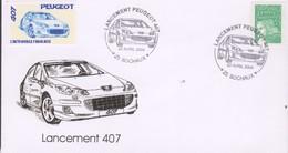 Peugeot -Lancement De La 407 - 22 Avril 2004  Avec Vignette - Automobili