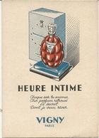 Heure Intime ; Vigny ; Paris - Perfume Cards