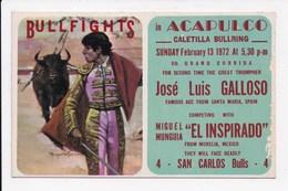 CP CORRIDA MEXIQUE Bullfights In Acapulco - Mexico