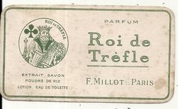 PARFUM . ROI DE TREFFLE . MILLOT . PARIS - Perfume Cards