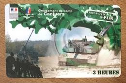 ARMÉE CANJUERS SOLDAT MILITAIRES CARTE 3H PASSMAN WIFI WI FI INTERNET PAS TÉLÉCARTE PHONECARD - Armée