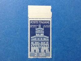 1946 ITALIA FRANCOBOLLO NUOVO STAMP NEW MNH** AVVENTO REPUBBLICA CHIESA LUCCA 2 LIRE - 1946-60: Neufs