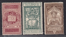 ITALIA REGNO 1921 DANTE  SASSONE S.20  MNH - Mint/hinged
