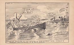 War 1914-1918 ; U.S. Sailors In North Sea Looking For U-Boat Submarines - War 1914-18